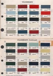 paint chips 1968 volkswagen