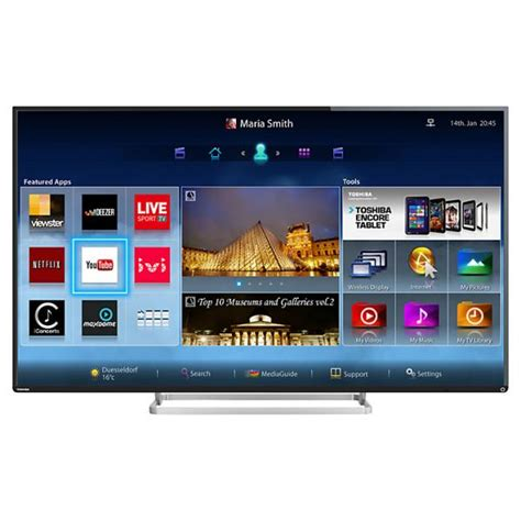 Led Toshiba Smart Tv Hd 43l5650 55 toshiba 55l7453db hd 1080p freeview hd smart led 3d tv