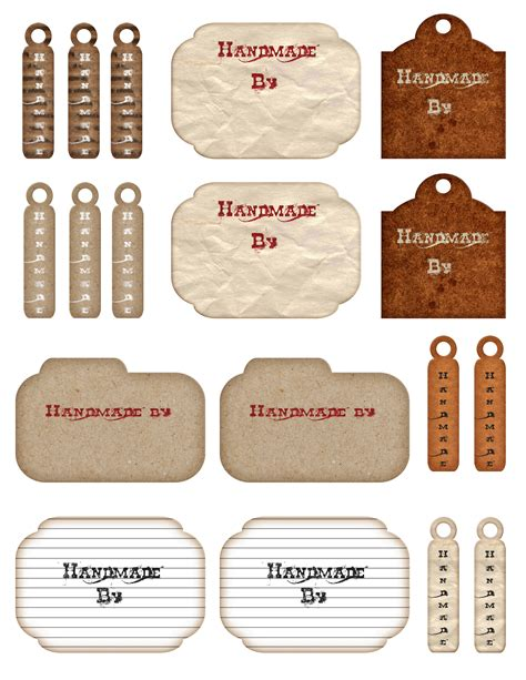 Handmade By Labels - free printable handmade hang tags and labels the