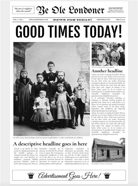 Google Docs - Old Newspaper Template ~ Flyer Templates
