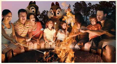 Disney Cing Cabins by Disney The Beaten Path Cfire Smores With Chip And