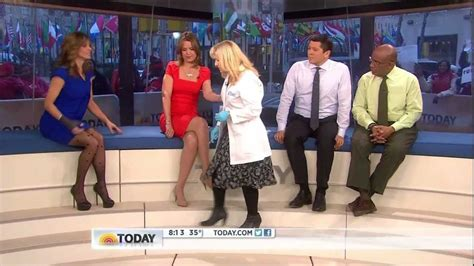 natalie morales stockings natalie morales short skirt patterned stockings and