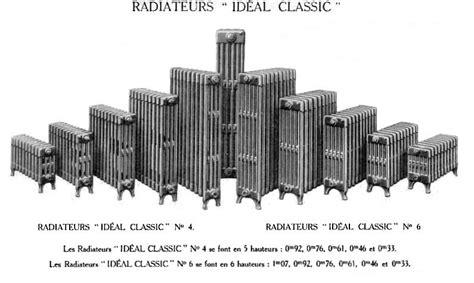Radiateur En Fonte Neuf 1854 by Radiateurs Classiques Le Mod 232 Le Le Plus Courant 224 Petites