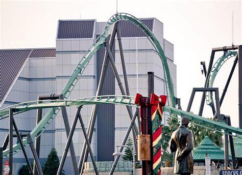 de track the flying dinosaur coaster is bijna