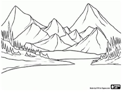 imagenes faciles para dibujar de un paisaje un dibujo de un paisaje a color imagui