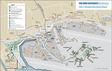jfk map map jfk airport air cargo port authority of new york new jersey