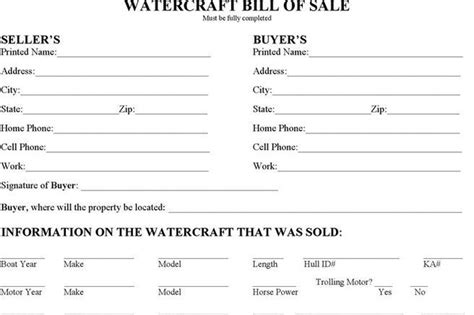 bill of sale form download free amp premium templates