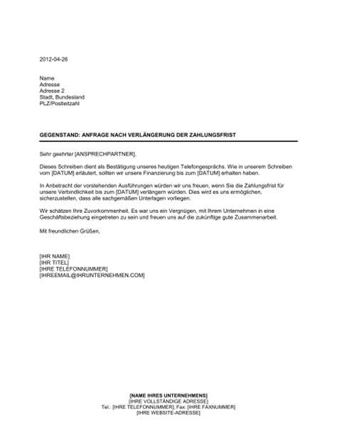 Anfrage Brief Beispiel Anfrage Nach Verl 228 Ngerung Der Zahlungsfrist Vorlagen Und Muster Biztree
