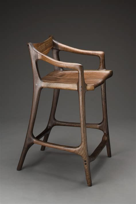 maloof style sculpted bar stool