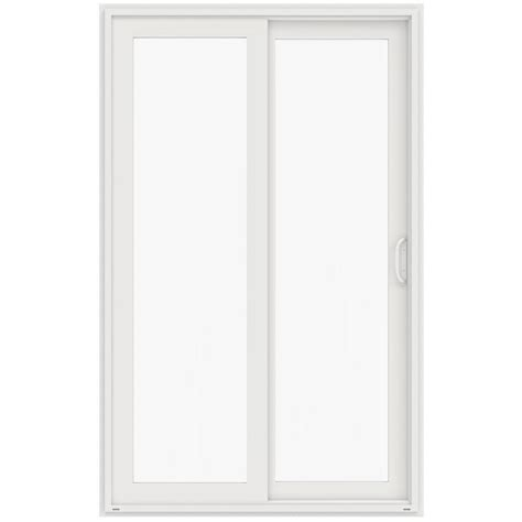 96 Patio Door Jeld Wen 60 In X 96 In V 4500 White Prehung Left Sliding 1 Lite Vinyl Patio Door