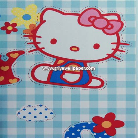 wallpaper dinding hello kitty malaysia wallpaper dinding kamar anak hello kitty murah griya