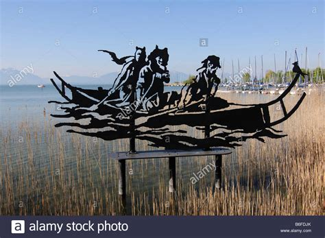 fishing boat art work fishing boat steel artwork sculpture in seebruck lake