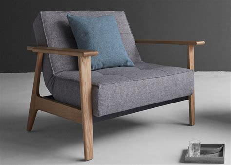 Fauteuil Lit Design by Fauteuil Convertible En Textile Et Bois De Ch 234 Ne