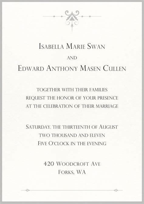 twilight saga wedding invitation wedding invitation twilight