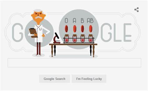 doodle groups observes karl landsteiner 148th birthday with a doodle