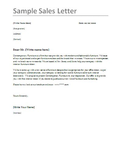 Sales Introduction Letter Template Exle 10 sales letter sles word excel pdf templates