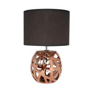 Ordinary Pied De Lampe Metal #1: ILA3062300-0101-2250-p00-lampe-poser-pied-boule-cuivre-avec-abat-jour-cylindre-noir-hauteur-35cm-yanis.jpg