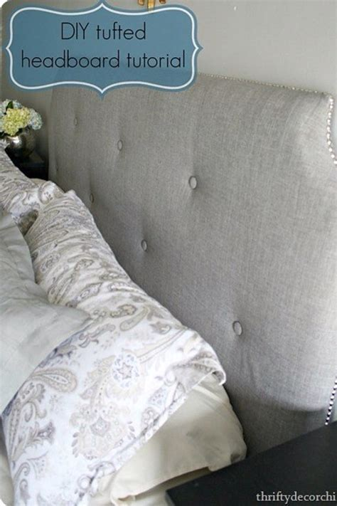 make your own tufted headboard musely