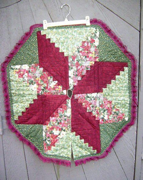 Handmade Tree Skirt - vintage handmade tree skirt quilted hexagon