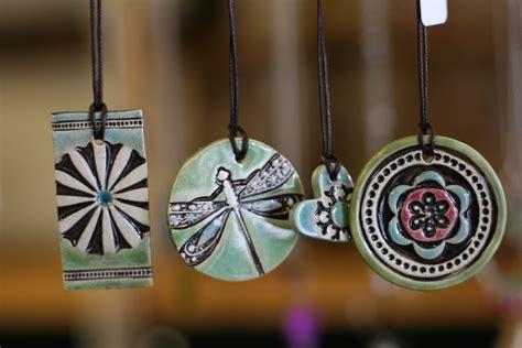 Pottery Jewelry Handmade - wildflower wax candle studio handmade jewelry by rebekah
