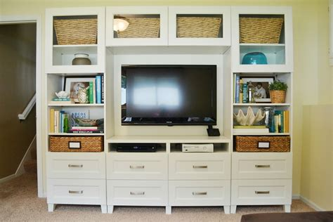 Ikea Hack Hemnes Bookcase Dwelling Cents Entertainment System Amp Basement Updates