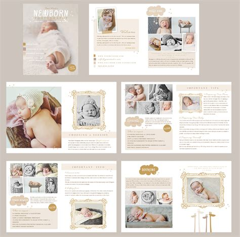newborn magazine template naturally sweet newborn photography product pricing and