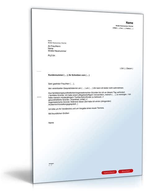 Musterbriefe Termin Absagen Mitteilung An Die Agentur F 252 R Arbeit Absage Eines Gespr 228 Chstermines
