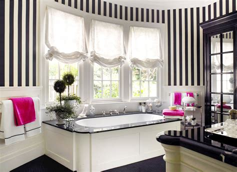black and white striped wall spotted trend classic black white stripes awed by