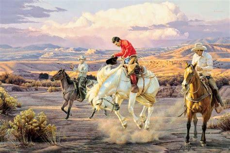 imagenes de paisajes y caballos fantasticos paisajes del co y caballos pintura