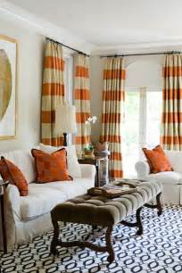 orange curtains contemporary living room janie molster designs
