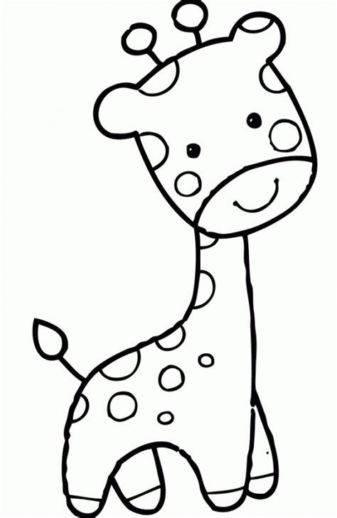 preschool baby animals coloring pages get this cute baby giraffe coloring pages for preschool
