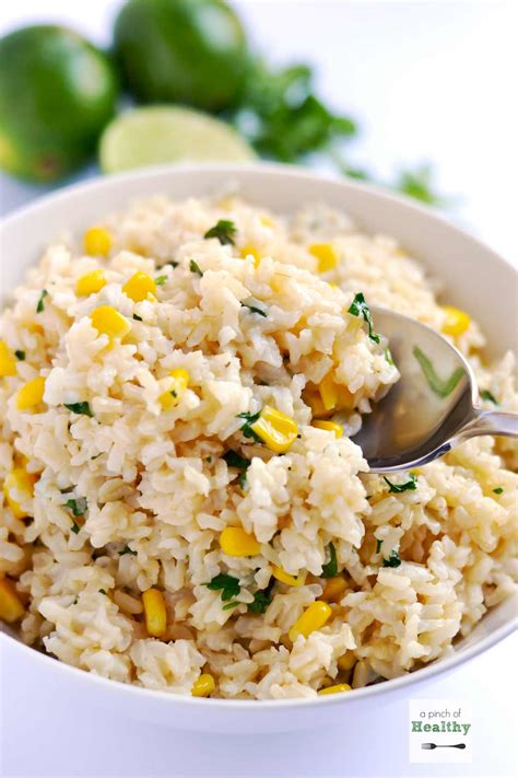 cilantro lime brown rice a pinch of healthy
