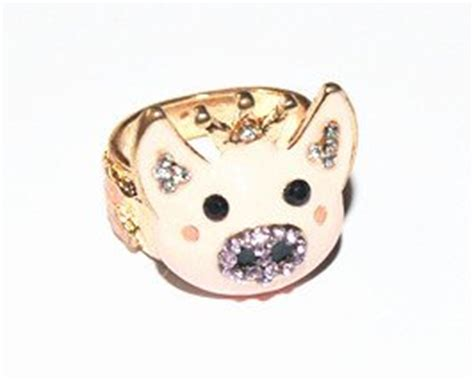 je277 sweet jewelry crown ring pig ring