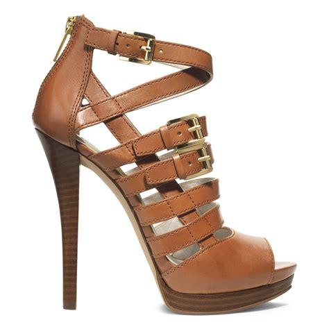 michael kors platform sandals michael kors michael platform sandals in brown