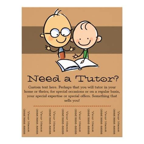 tutor flyer template free 9 best tutoring images on tutoring flyer