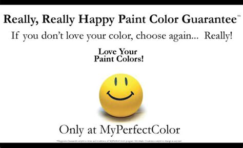 really really happy paint color guarantee