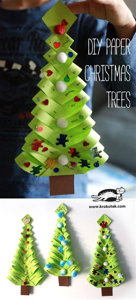 krokotak diy paper christmas trees