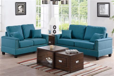 couches and loveseat sets arri blue fabric sofa and loveseat set steal a sofa