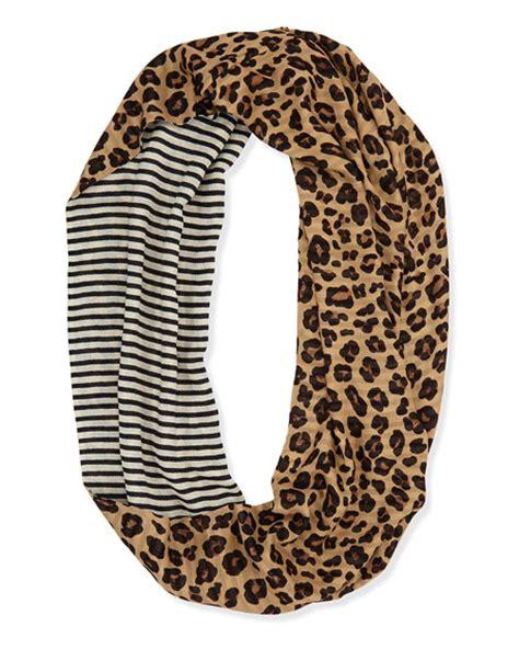 infinity leopard scarf burch leopard print striped infinity scarf