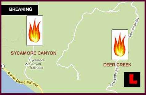 Pch Closure Map - camarillo fire 2013 update new map shows malibu pch closure