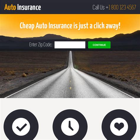 Buy Cheap Auto Insurance by Auto Insurance Landing Page Design To Capture Leads And