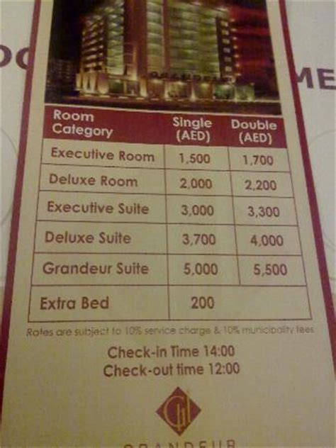Rack Rates by Kettle For Beverages Picture Of Grandeur Hotel Dubai