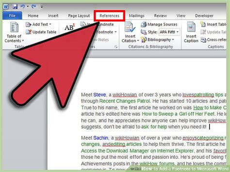 modify footnote separator word 2013 3 ways to add a footnote to microsoft word wikihow