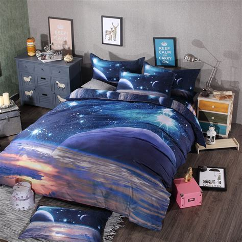 Space Bedding Sets 3d Galaxy Bedding Sets Size Universe Outer