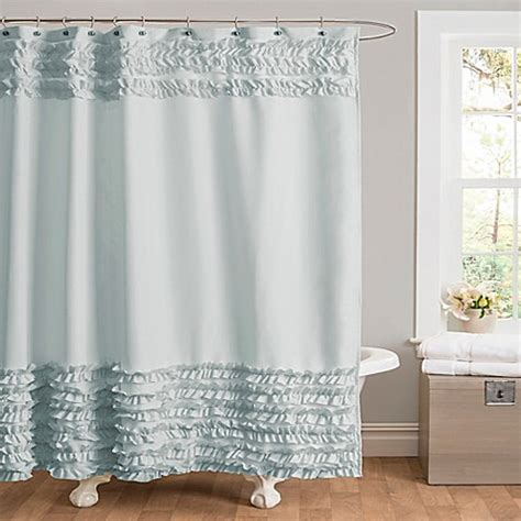 bed bath and beyond blue curtains buy skye shower curtain in blue from bed bath beyond
