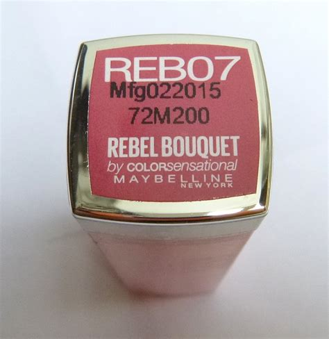 Lipstik Maybelline Rebel Bouquet maybelline color sensational rebel bouquet reb07 lipstick