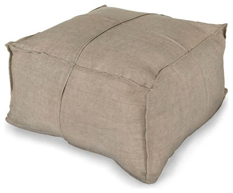 Floor Pillow by Linen Pouf Light Grey Transitional Floor Pillows And