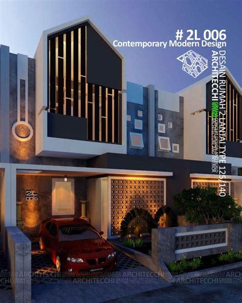 desain rumah  lantai  contemporary modern type  lebar  meter  kamar tidur