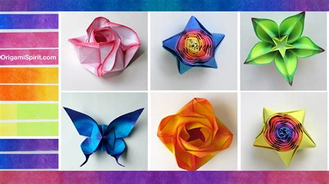 Origami Colored Paper - how to color paper for origami coloreado de papel