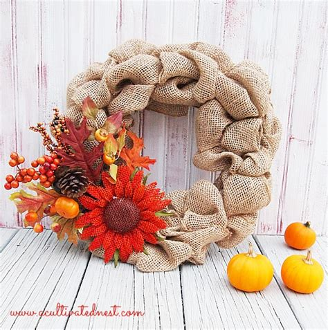 Home Made Fall Decorations by Diy Fall Burlap Wreath